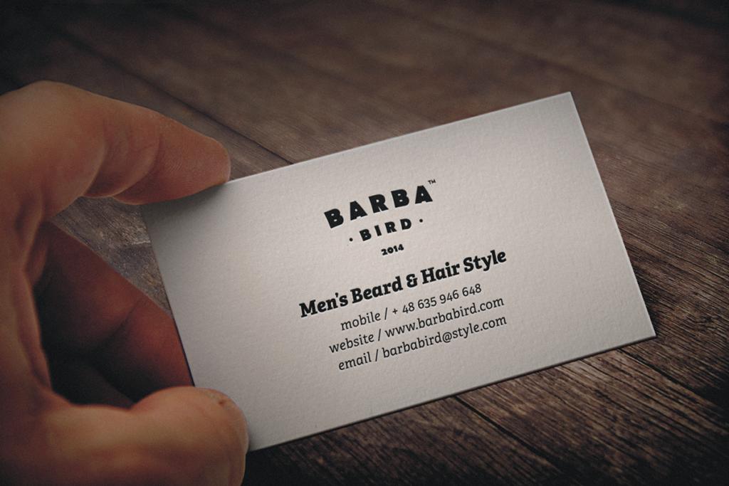 barbabird barbershop salon fonts