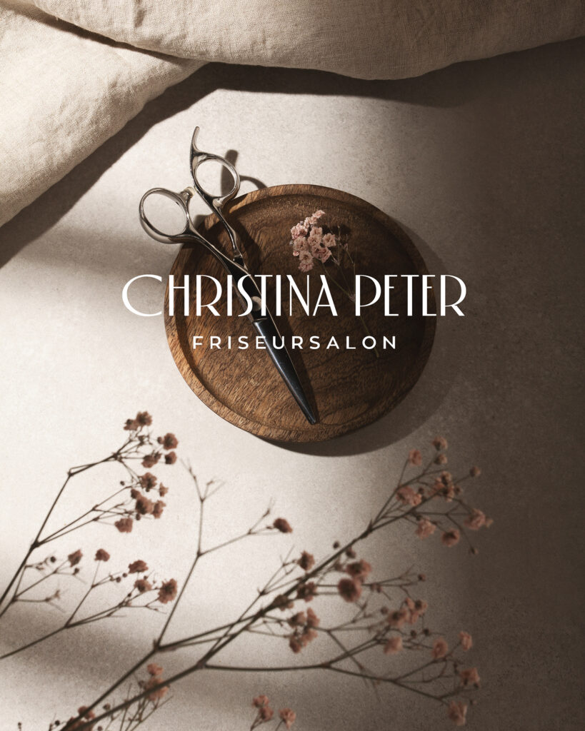 christina peter hair salon branding