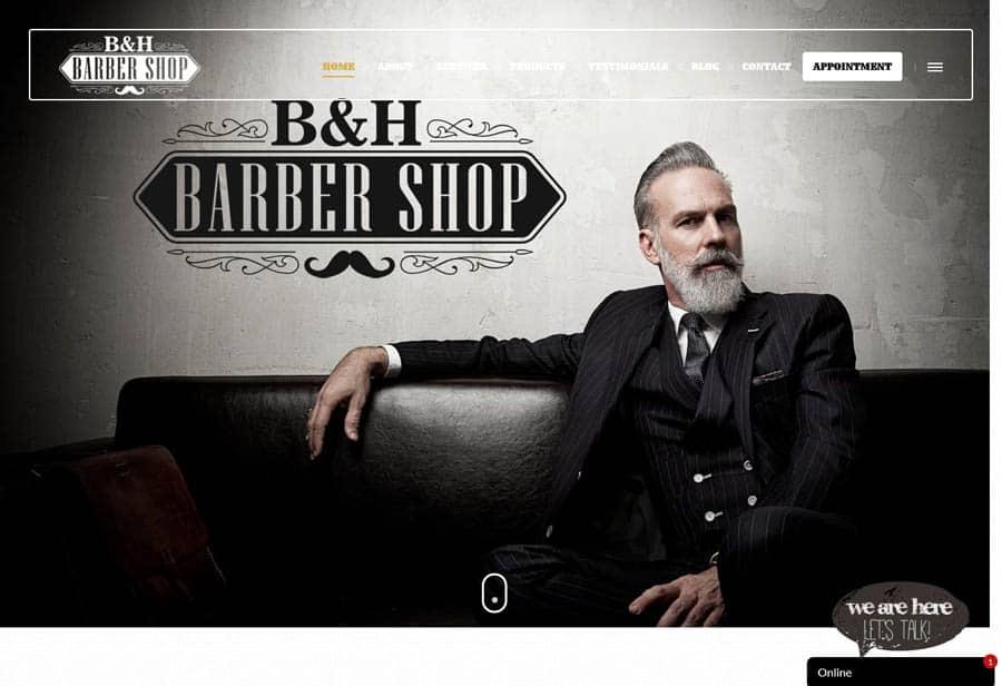 Website design: B&H Barber Shop