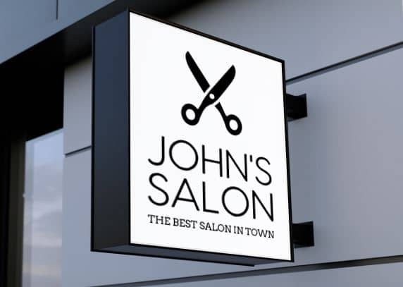 Salon logo example