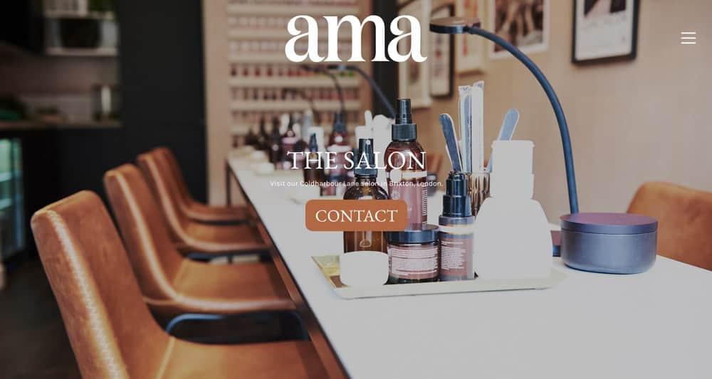 Nail salon website design