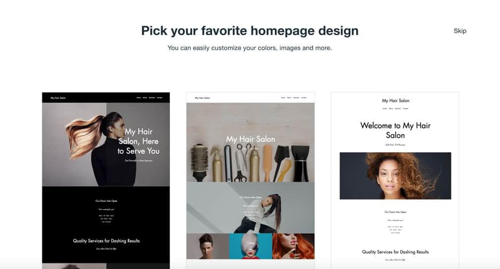 Salon website design inspiration