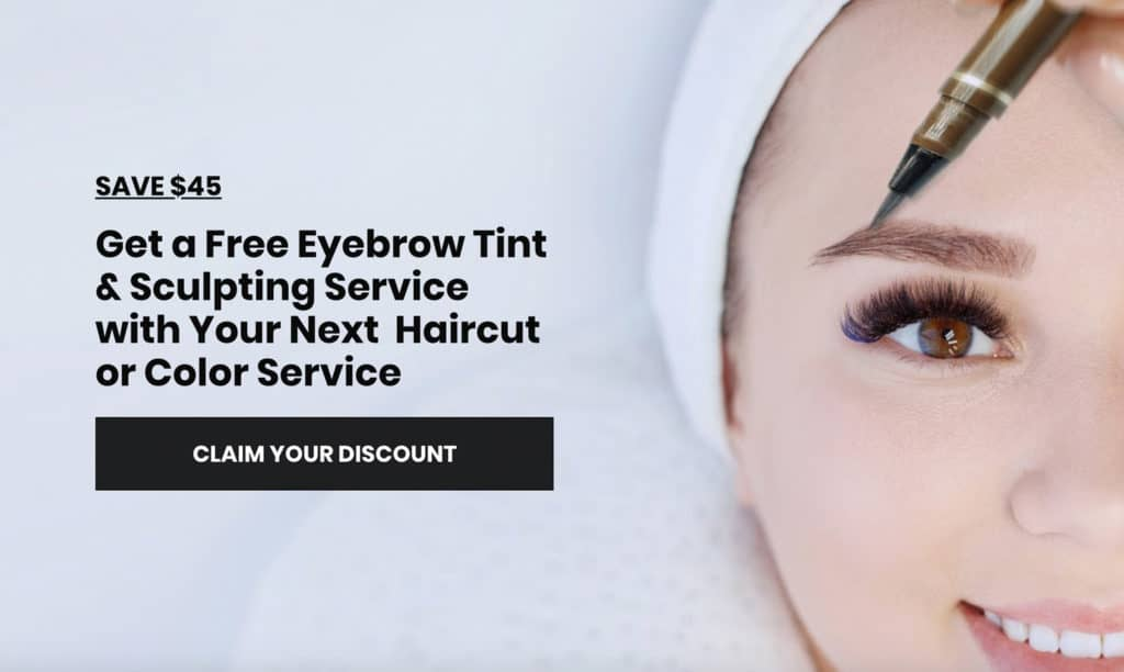Salon Facebook Offer Promoted with Facebook ads