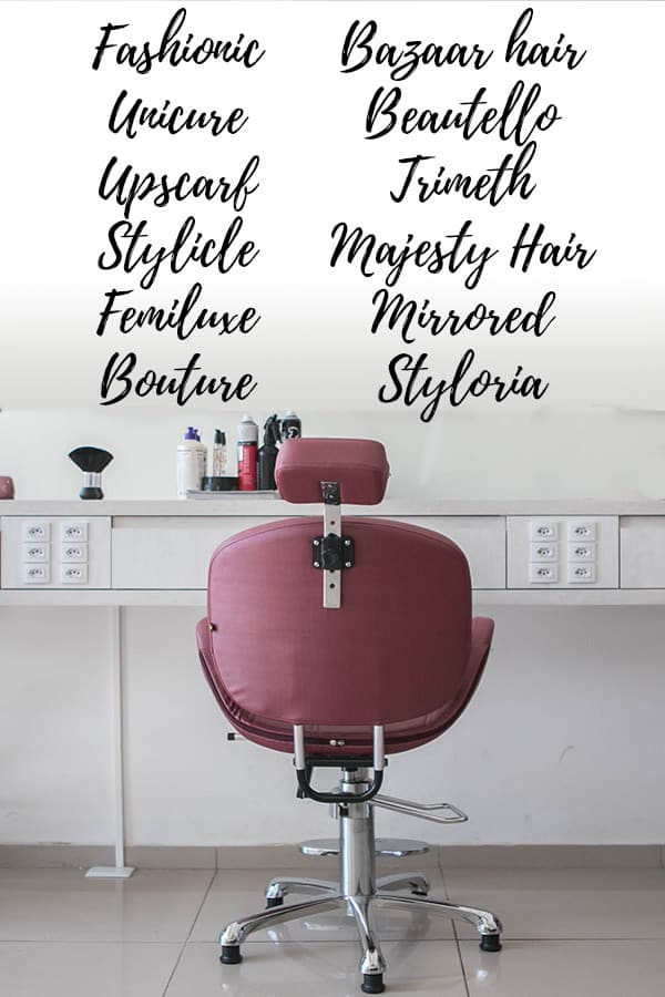 77 Unique Classy Hair Salon Names For The High End Salon