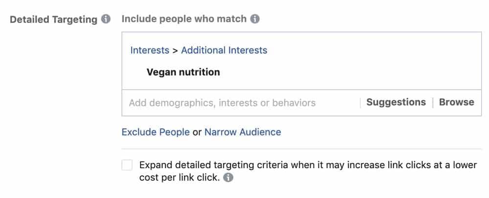 Hair salon facebook ad interest targeting
