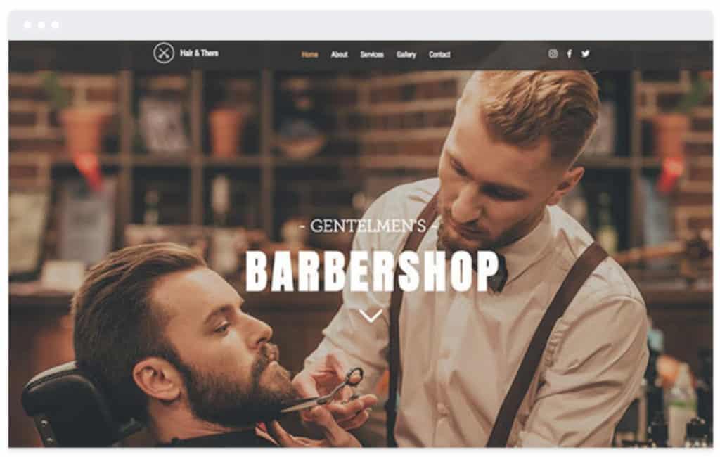 Wix barbershop website design template