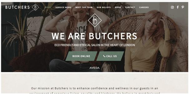 Eco Salon Website Design