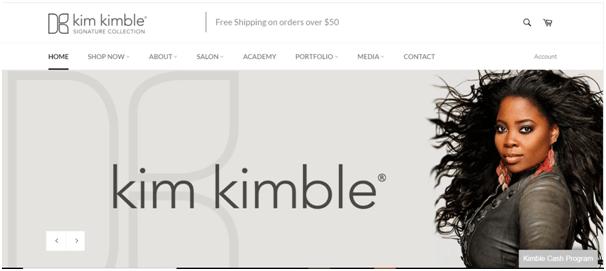 Kimble hair studio website example
