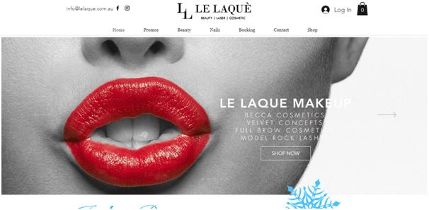 Beauty salon website example