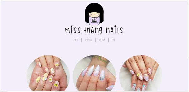 Miss Thang Nail Salon Website