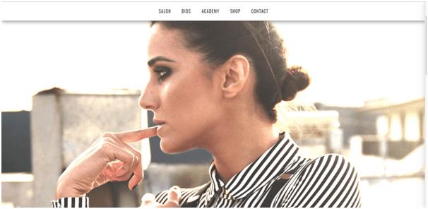 Salon website example
