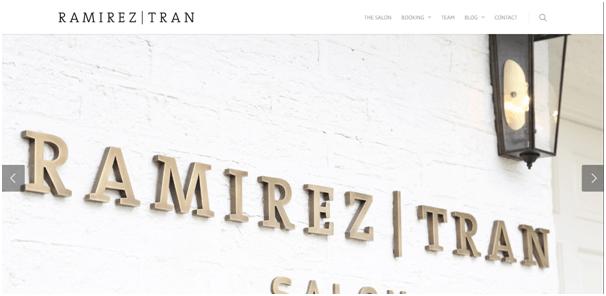 Ramirez Hair Salon Website Example