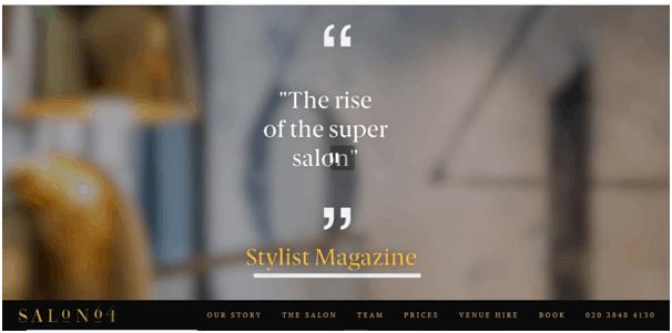 Salon 64 Website example