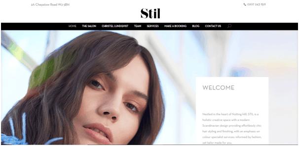 Salon website inspiration