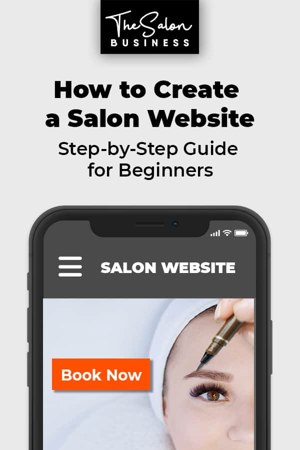 Salon website ideas - create a salon or spa website guide