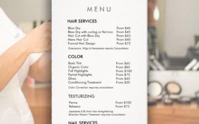 39 Hair Salon Services Your Salon Menu & Price List Must Include