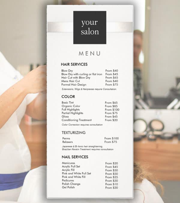 39 Hair Salon Services Your Salon Menu & Price List Must Include