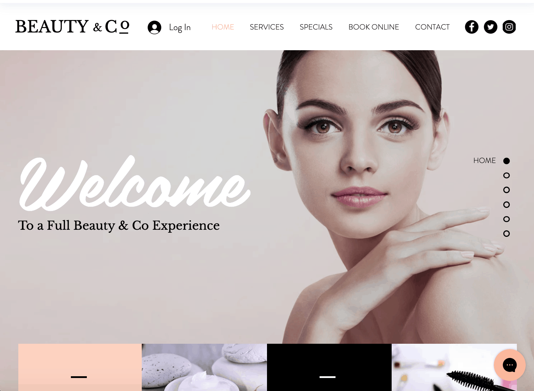 Hair salon website design ideas