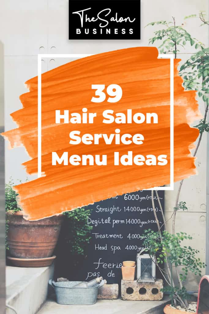 Hair salon service ideas for your price list