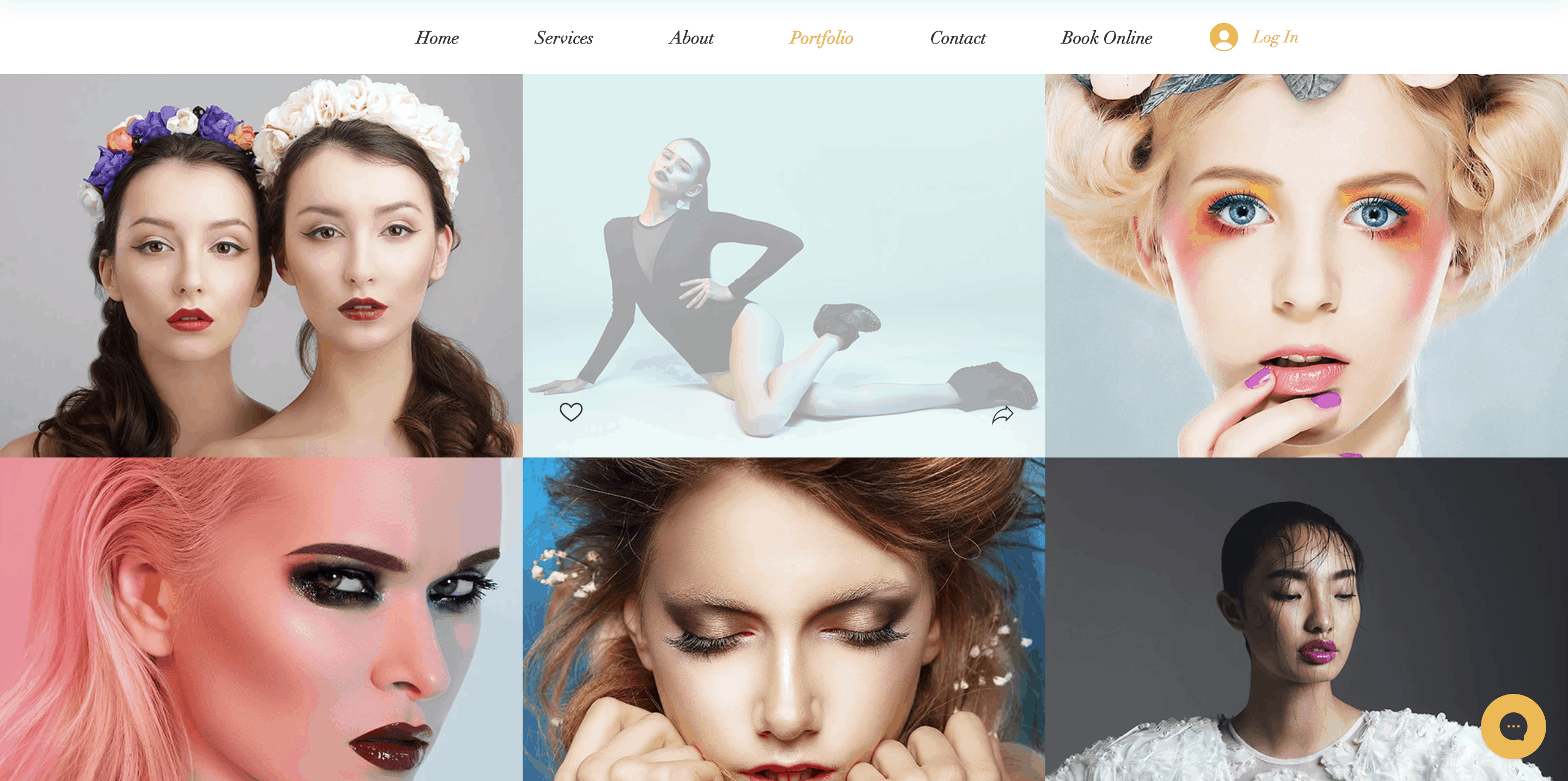 makeup artist website portfolio template