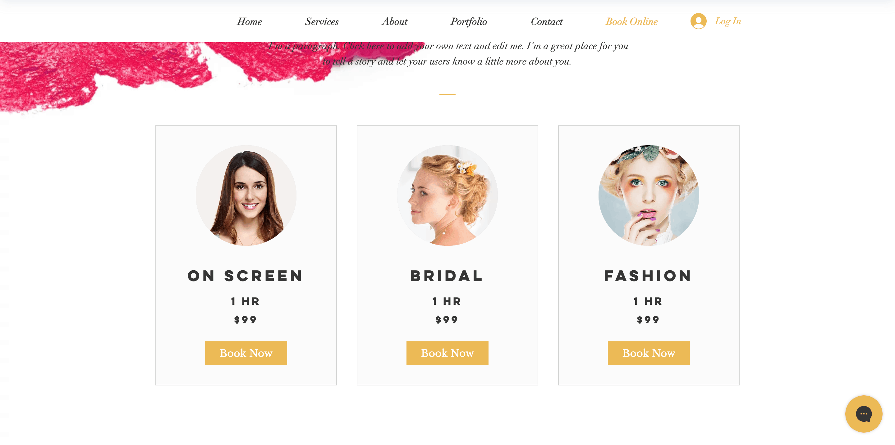 Salon website design inspiration