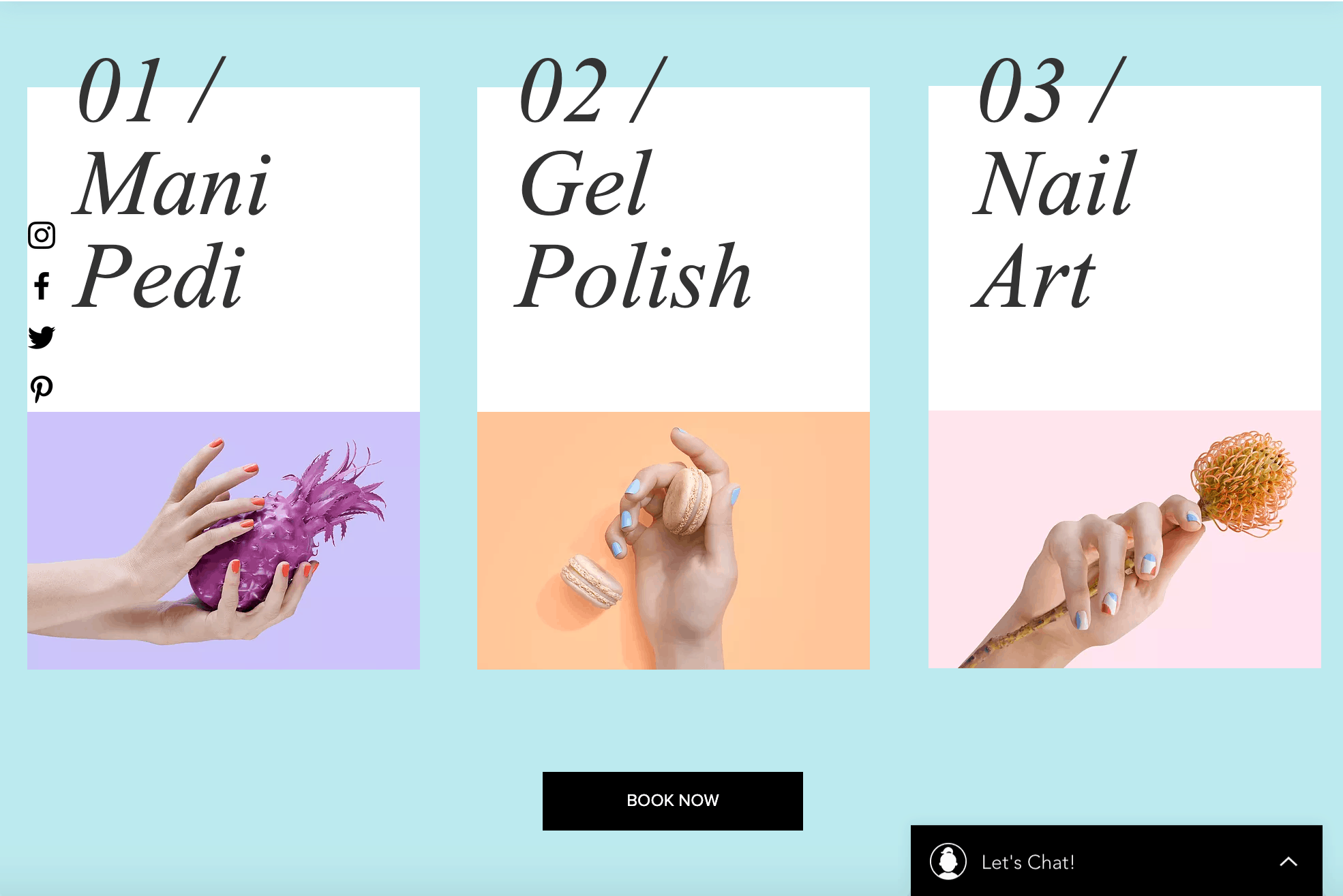 Nail website design