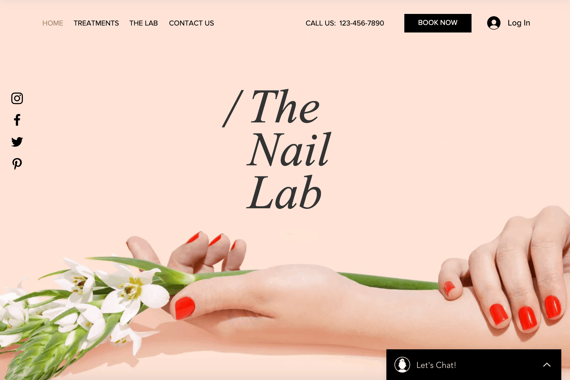 Nail salon homepage design