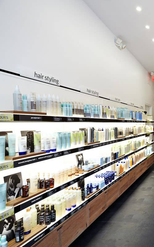 Beauty salon retail shelf