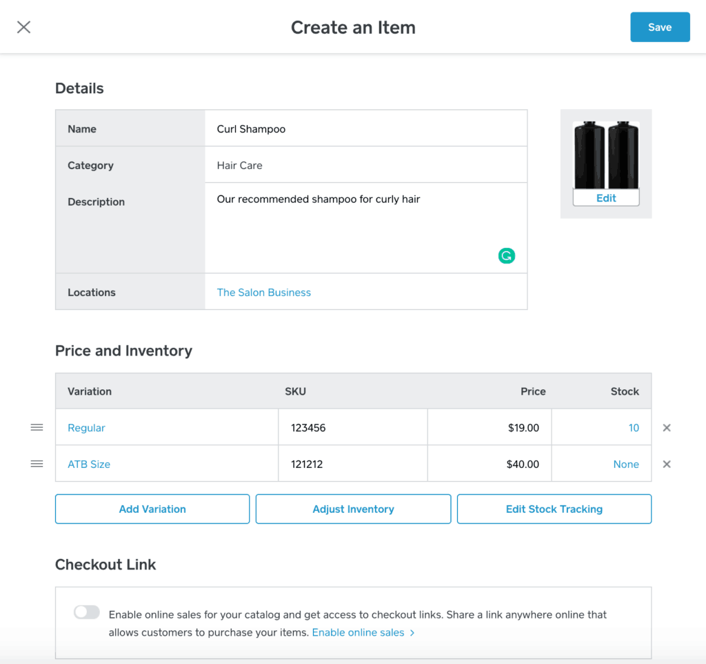 Managing your inventory in Square Appointments