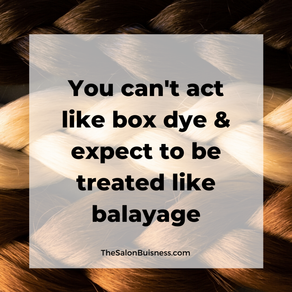Funny hairstylist quote about box dye