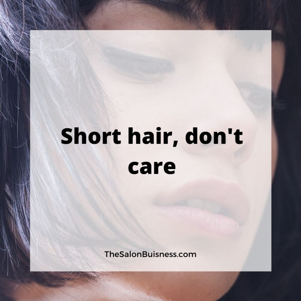 Funny hair quote - women with short hair