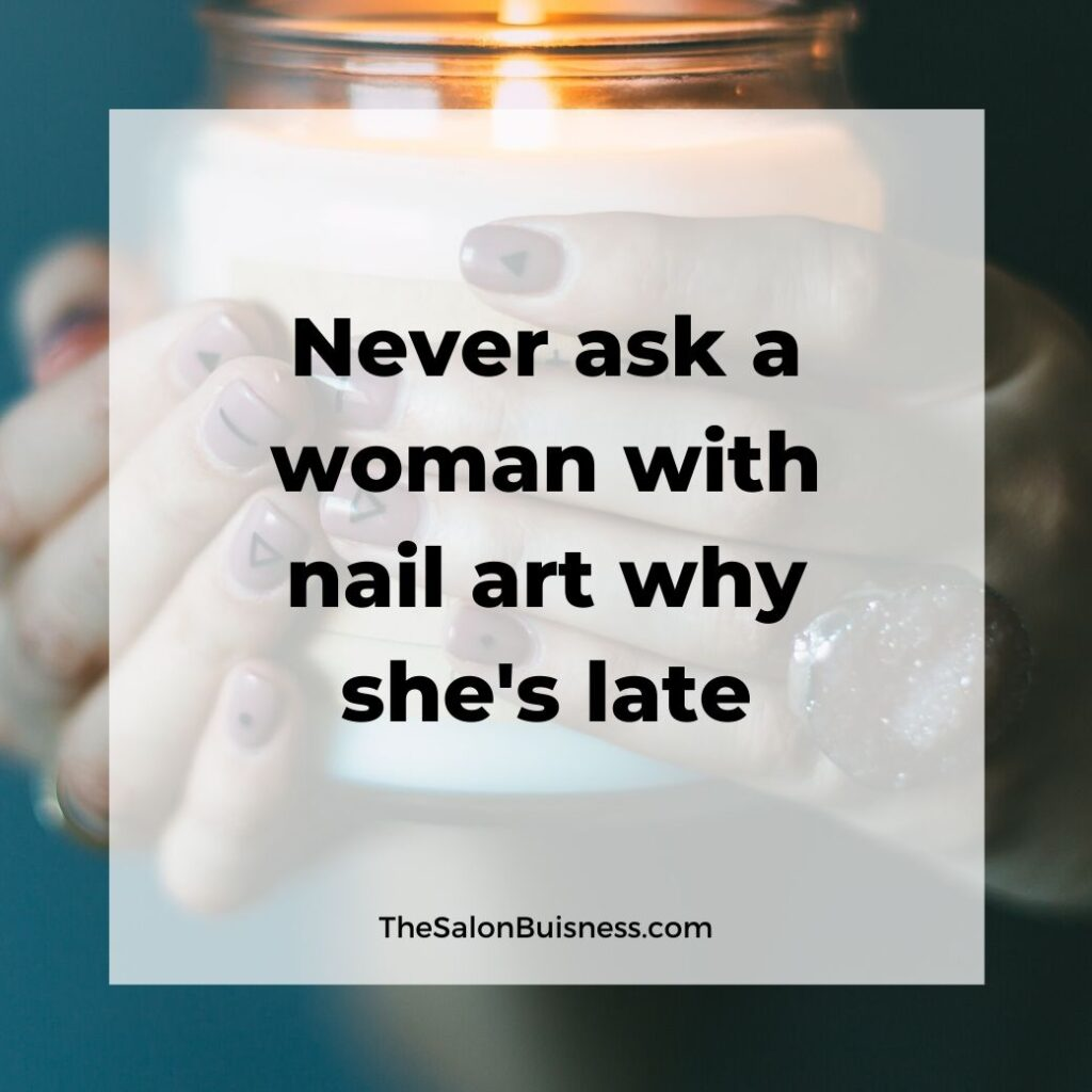 Funny nail art quote - woman holding candle