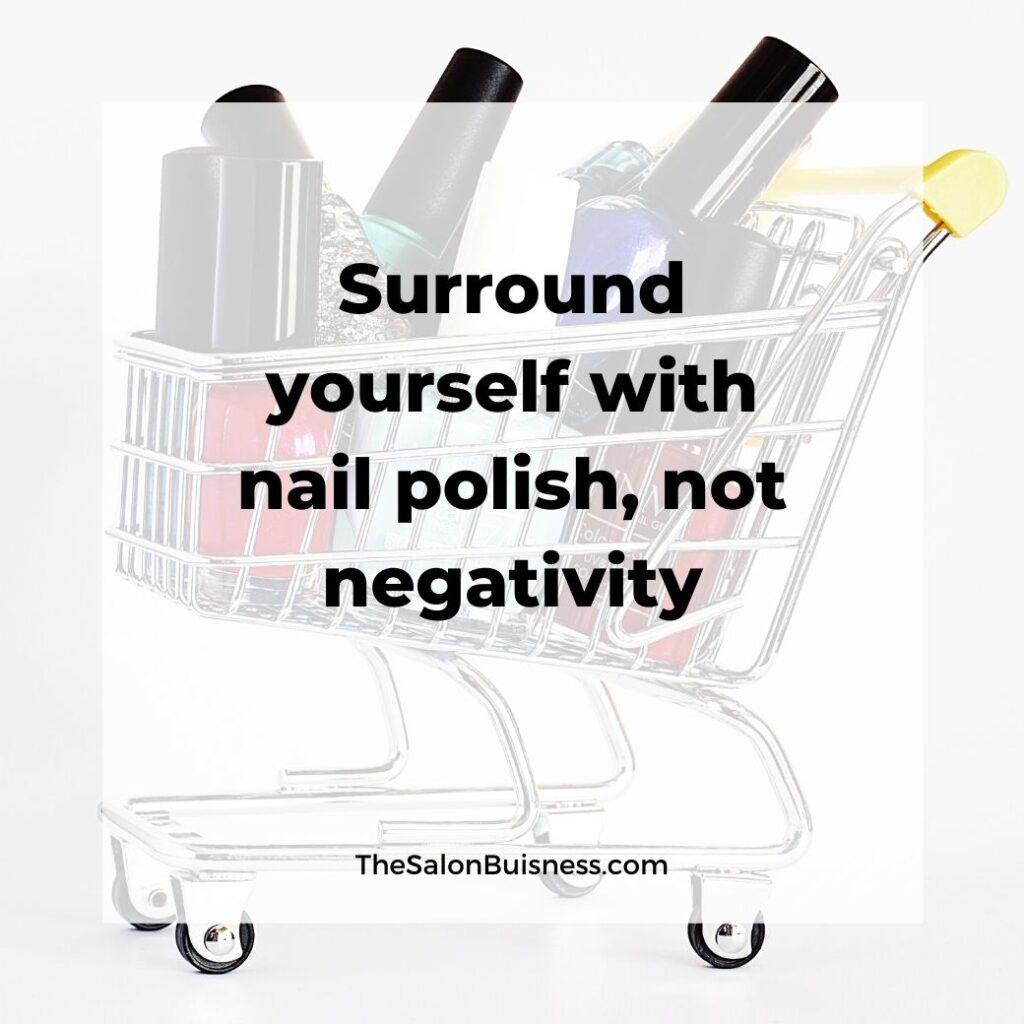 Funny nail polish quote - nail polish in shopping cart