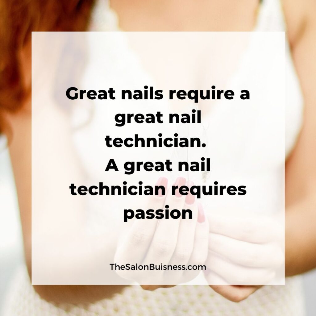 Great nail quotes -great nail technician quotes - woman with red nails