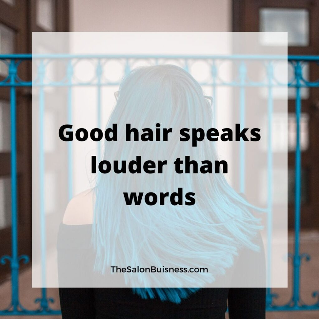 Inspirational good hair quote - woman with blue hair.jpg