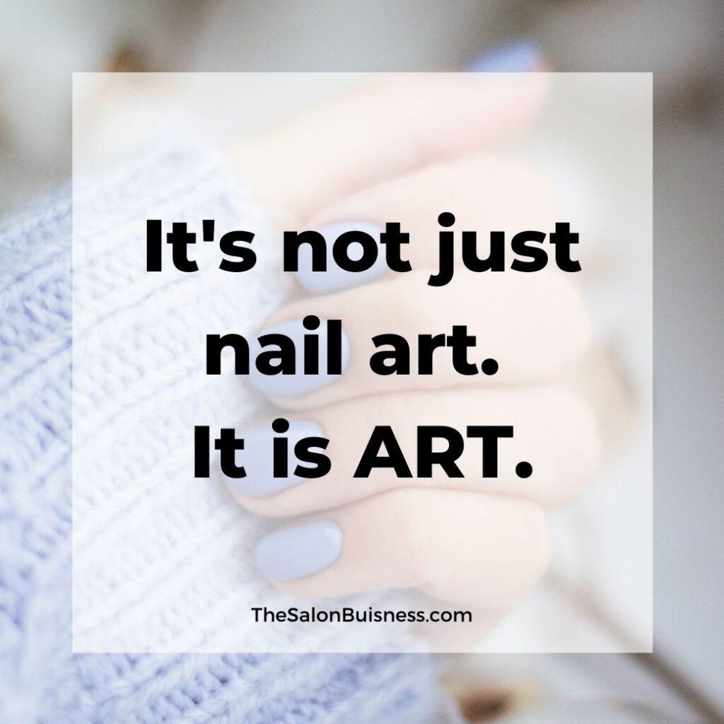 Nail art quote