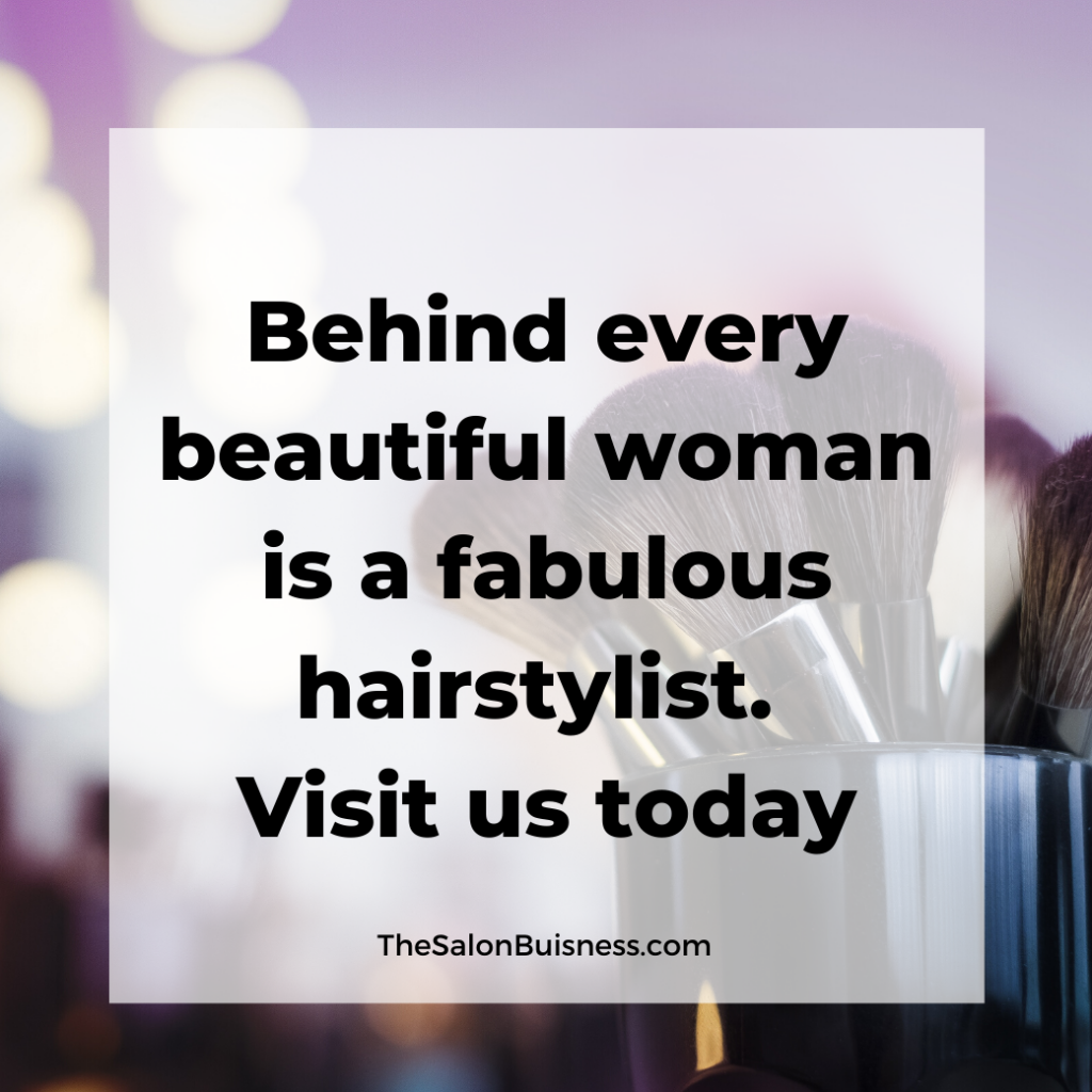 Catchy salon phrase about beauty.
