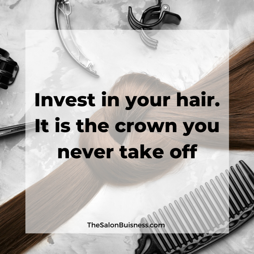 Brown hair in knot - quote about good hair.