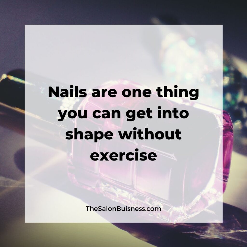 Relatable nail quote - pink nail polish bottle