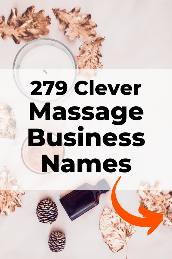 Clever Massage Business Names
