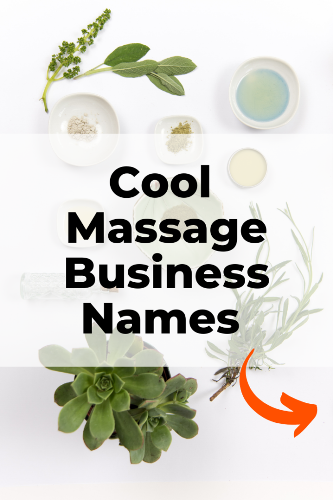 Cool Massage Business Names