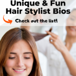 unique and fun hair stylist bio
