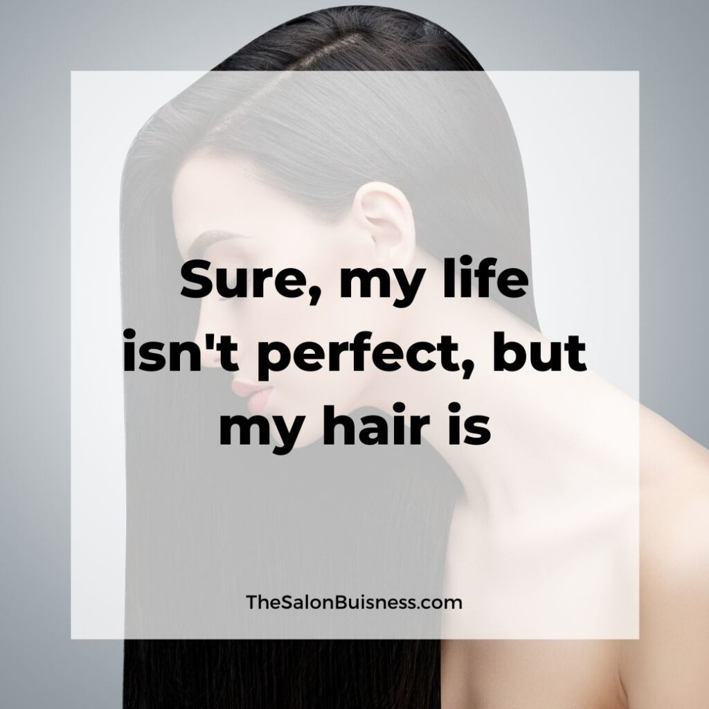 Funny hair quotes - woman with long dark hair