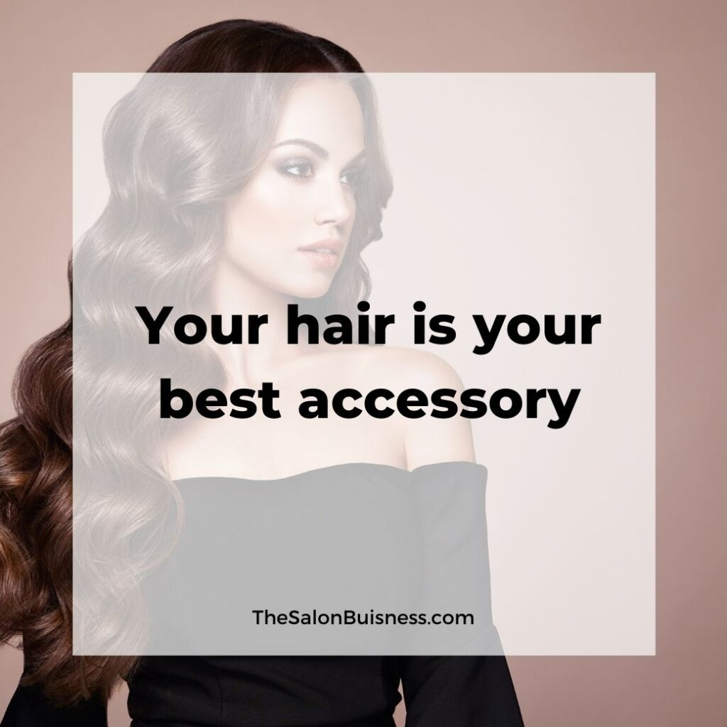 girls hair quotes & saying  -  woman with long wavy brown hair where black low cut long sleeve