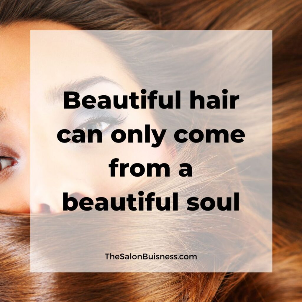 hair compliments quotes   -  woman with brown hair covering mouth - dark eye makeup