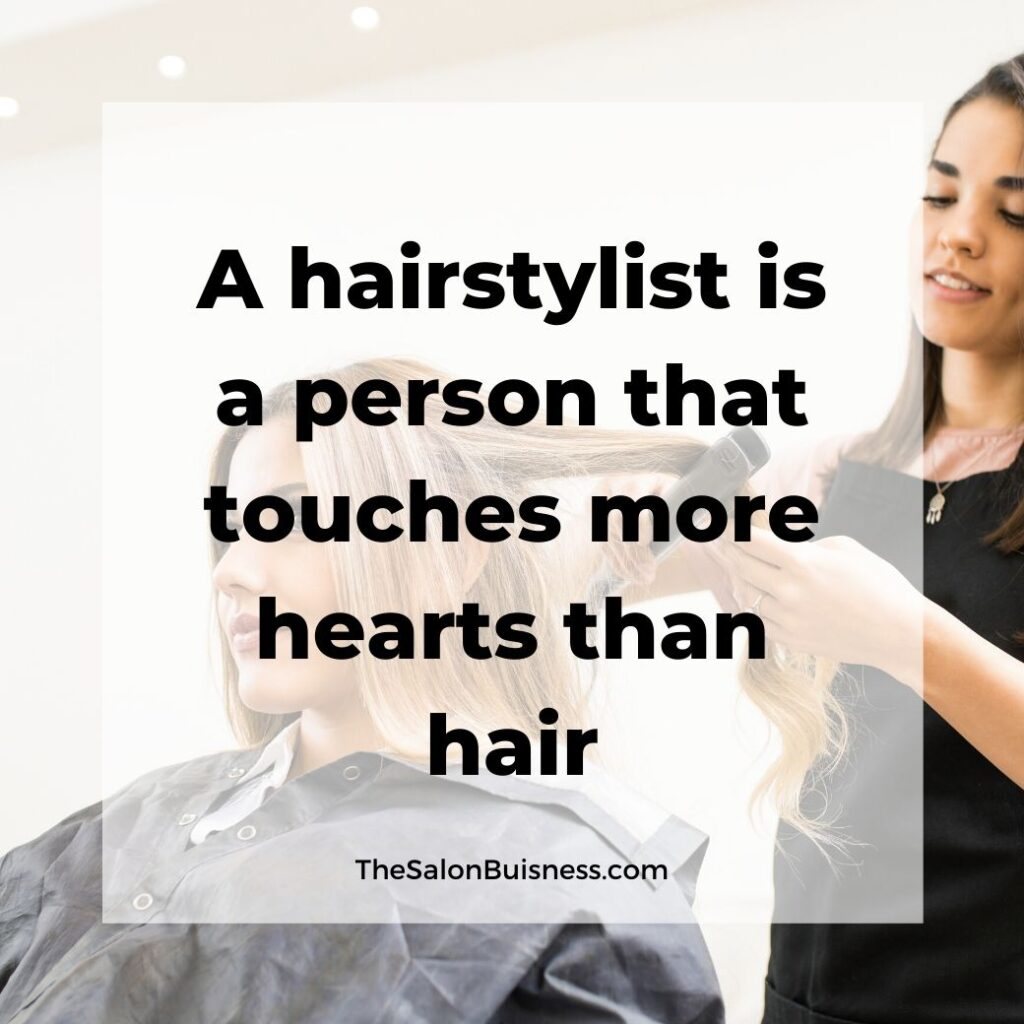hair stylist quotes   -  woman with brown hair straightening woman with blonde hair hair  in salon chair