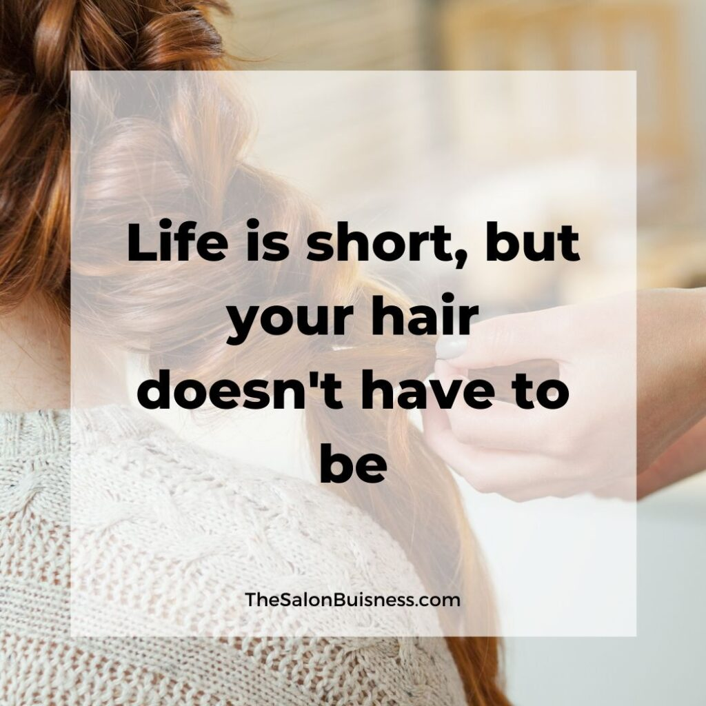 inspiring long hair quotes  - woman with long ginger hair in fishtail braid