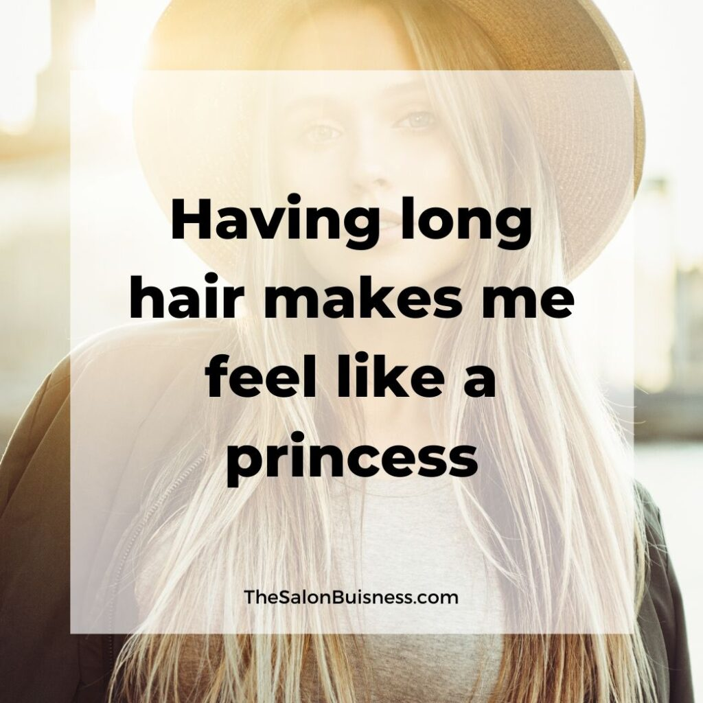 long hair quotes  - woman with long blond hair wearing round hat
