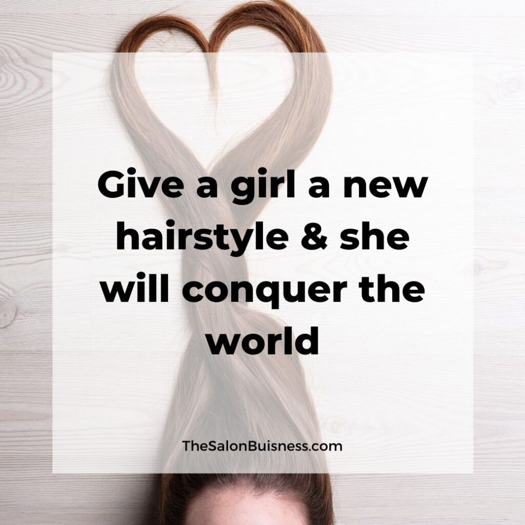 new hair quotes  - woman with brown hair lying down - hair above her head in the shape of a heart