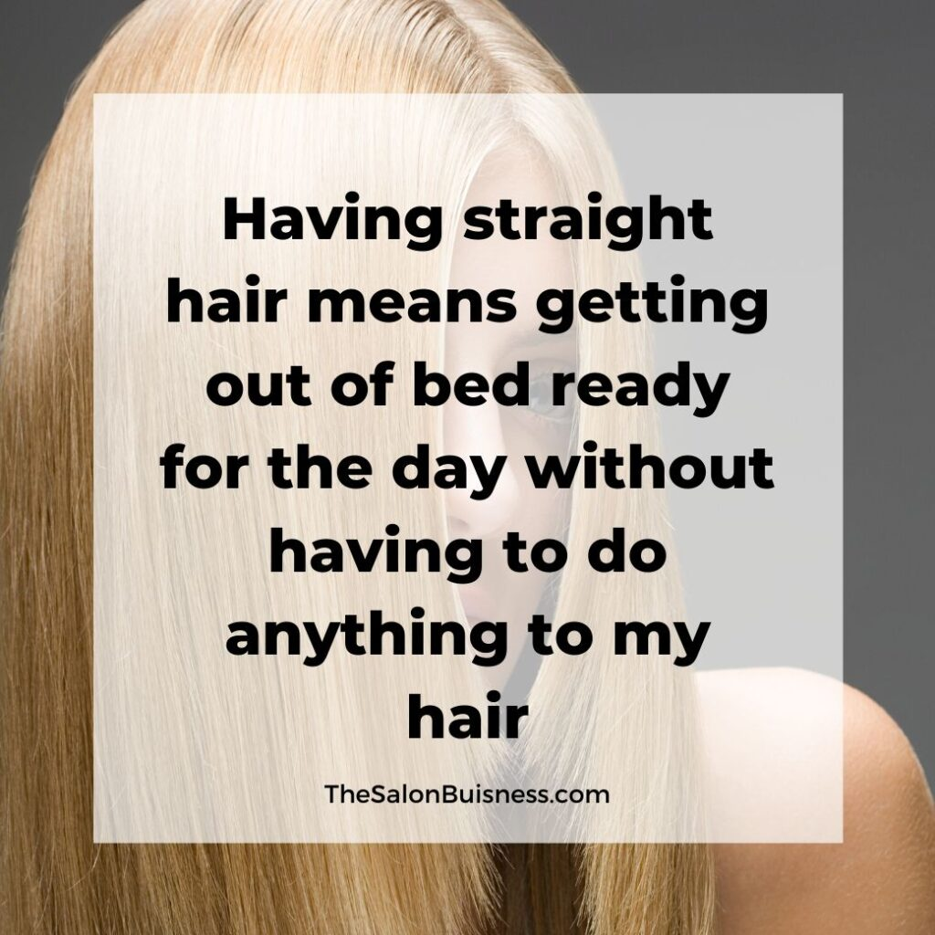 relatable straight hair quotes  -  woman with straight blonde hair - with hair covering face